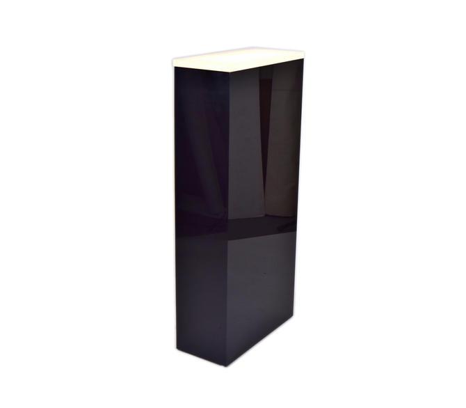 Black Lucite Lighted Art Sculpture Display Pedestal Stand by PrairielandArt