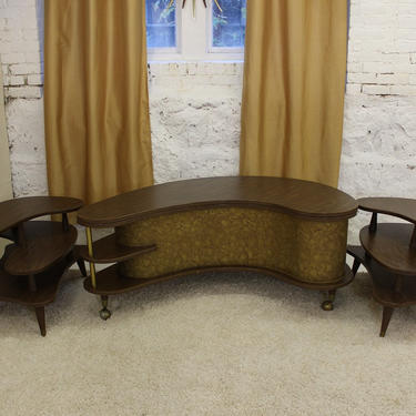 Mid Century Modern, vintage, Coffee table and end tables set, 3pcs by GreStuff