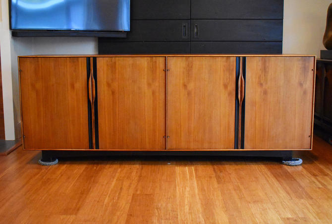 "Restored mid-century walnut credenza/sideboard by John Kapel for Glenn of California - 80"" long by MidCenturyClever"