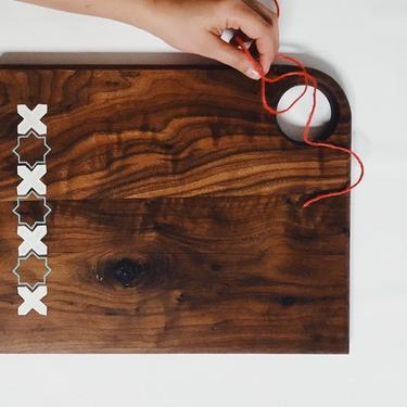 Walnut Cutting Board (hand-painted), Persian Design serving board/platter by KaashiFurniture