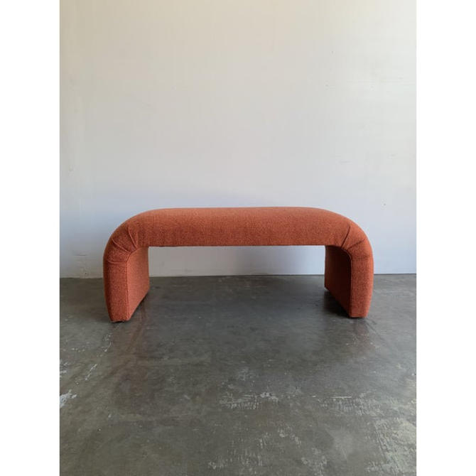 """Waterfall Art Deco Style Bench - """"Coral"""" by VintageOnPoint"""