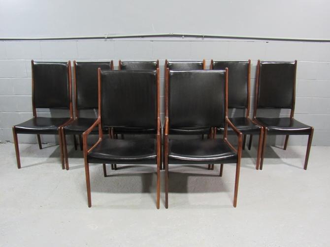 Set of 8 Mid-Century Danish Modern Rosewood Dining Chairs