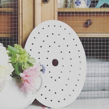 Beautiful pure white vintage Dutch strainer- DS1 by Grainsacfrenchvintag