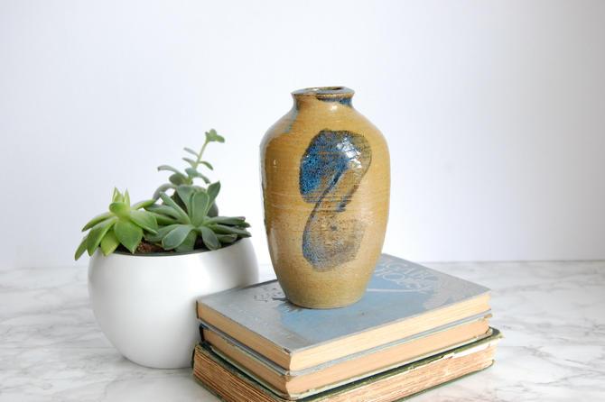 Studio Pottery Vase Vintage Hand Made Pottery Boho Decor by PursuingVintage1