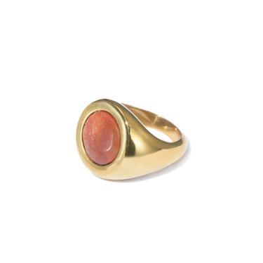 Petra Circle Signet Ring // Red Jasper // 9