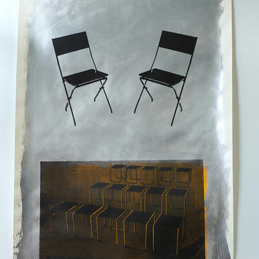 Breuer 'Rows' Acrylic on Heavy Drawing Paper (signed)