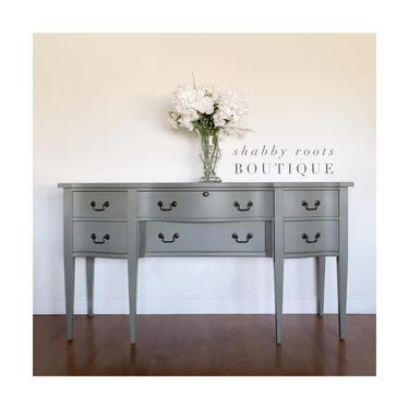 NEW! Gorgeous farmhouse Buffet Sideboard cabinet- Antique - Rustic Gray finish - San Francisco, CA by ShabbyRootsBoutique