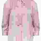 Zadig & Voltaire - Light Pink Button-Up Long Sleeve Blouse w/ Neck Tie Sz L