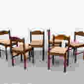 Vico Magistretti Inspired Rush Dining Chairs