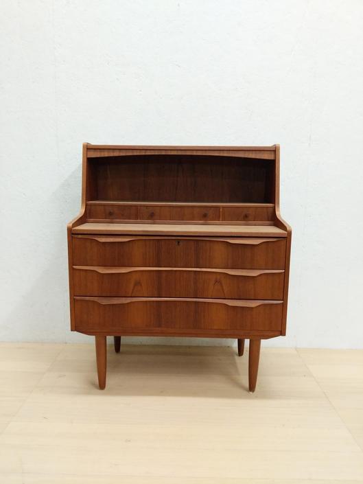 Vintage Danish Modern Teak Secretary Desk / Vanity by FarOutFindsNYC