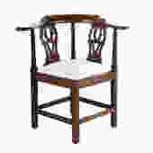 George III Walnut Corner Chair