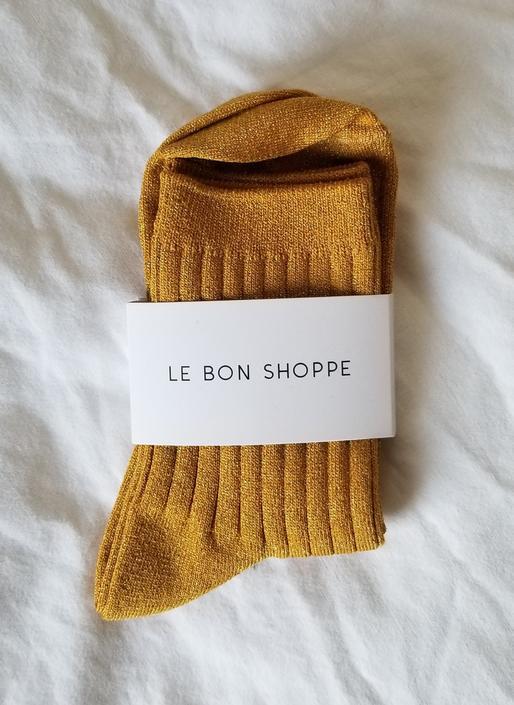 Le Bon Shoppe Her Socks - Honey Glitter