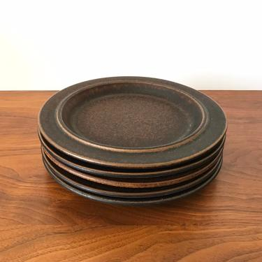 """Set of 5 Arabia of Finland Ruska 8"""" Salad Plates by Ulla Procope by TheThriftyScout"""