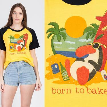 "90s ""Born To Bake"" Penguin Tourist T Shirt - Men's Medium | Vintage Graphic Maui Hawaii Tee by FlyingAppleVintage"