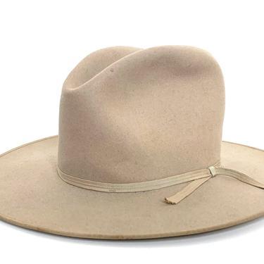 Vintage 1940s/1950s STETSON Cowboy Hat ~ size 7 1/4 ~ Western Fedora ~ Wide Brim ~ Silverbelly ~ 3X Beaver Fur Felt ~ Bound Edge by SparrowsAndWolves