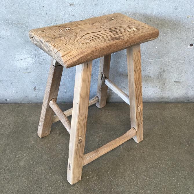 Primitive Wood Milking Stool