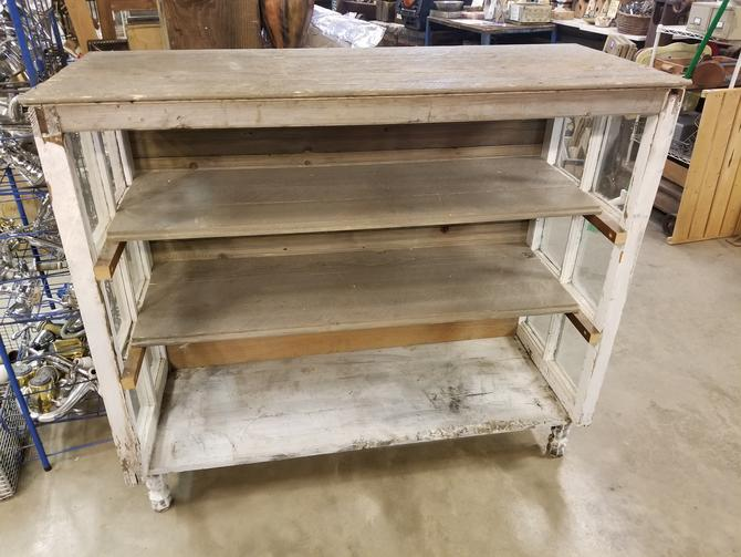 """Sturdy Bookshelf made from Reclaimed Materials 48.5"""" W 20.5"""" D 43.5""""T"""