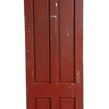 Antique 4 Pane Wood Passage Door 89.5 x 28
