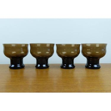 Vintage Lenox Clarion Brown - (4) Champagne/Sherbet Glasses - 1977 - EXC COND by TheFeatheredCurator
