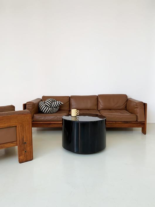 1960s Caramel Leather Tobia Scarpa for Gavina Bastiano Sofa