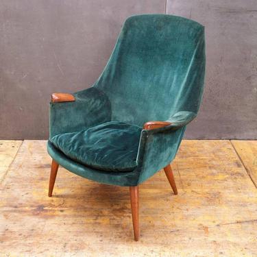 Mid-Century Lounge Chair Teak Gerhard Berg Hjelle Stole Vintage Danish Norway Scandinavian Modern Highback by BrainWashington