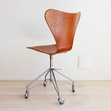 Additional shipping fee for Fritz Hansen Series 7 Teak Swivel Desk Chair with Casters Arne Jacobsen Made in Denmark by MidCentury55