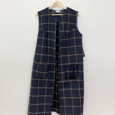 Navy Wool Vest by shopjoolee