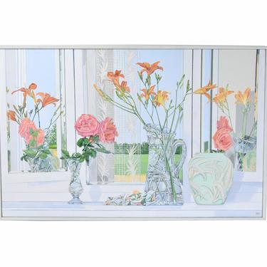 Pamela Lang Redick Detailed Still Life Painting Mirrored Reflections by PrairielandArt