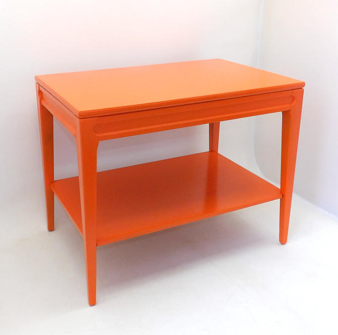 Mid Century Modern Orange Nightstand Night Stand or End Table Mersman 1960's Living Room Sofa Table Coffee Table Decor Entryway Office by MakingMidCenturyMod