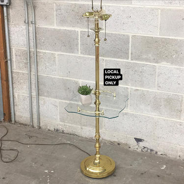 LOCAL PICKUP ONLY ———— Vintage Table Floor Lamp by RetrospectVintage215