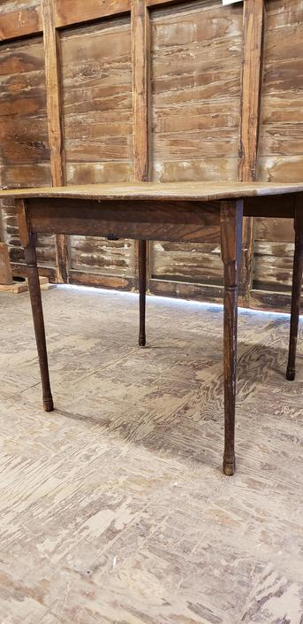 Antique folding wood table
