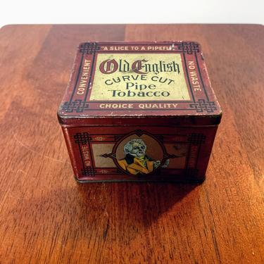 Vintage Old English Curve Cut Tobacco Tin by OverTheYearsFinds