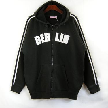 Black Berlin Zip Up Hoody