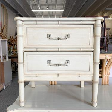 Henry Link Faux Bamboo Nightstand