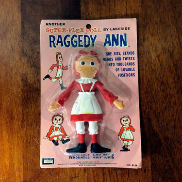 Vintage 1960s Lakeside Super Flex Raggedy Ann Doll by OverTheYearsFinds
