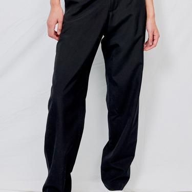 Black Suiting Flatfront Pant