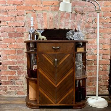 SOLD. Small deco bar cabinet