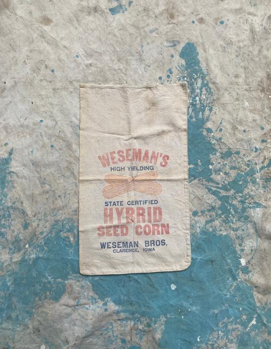 Vintage Weseman Bros Hybrid Seed Corn Sack Farm Decor Clarence, IA by NorthGroveAntiques