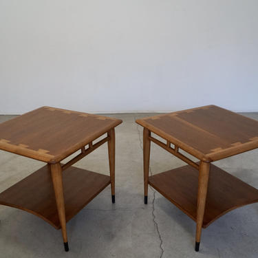 Pair of Mid-century End Tables by Lane - Dovetail Acclaim Series Refinished! by CyclicFurniture