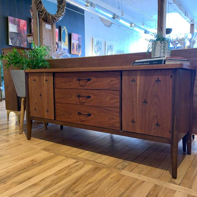 Refinished Petite Mid-Century Sideboard by Broyhill Saga