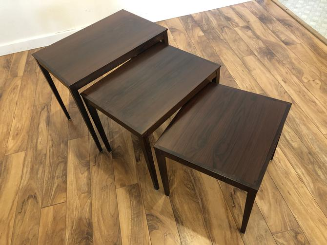 Bent Silberg Danish Rosewood Nesting Tables
