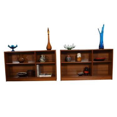 Pair of Danish Modern Teak Low Bookcases
