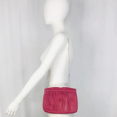 Vintage 1980s Ande' Deep Pink Convertible Clutch by timelesspieces