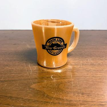 Vintage Anchor Hocking Fire King Peach Lustre Rio Grande Main Line Coffee Mug by OverTheYearsFinds