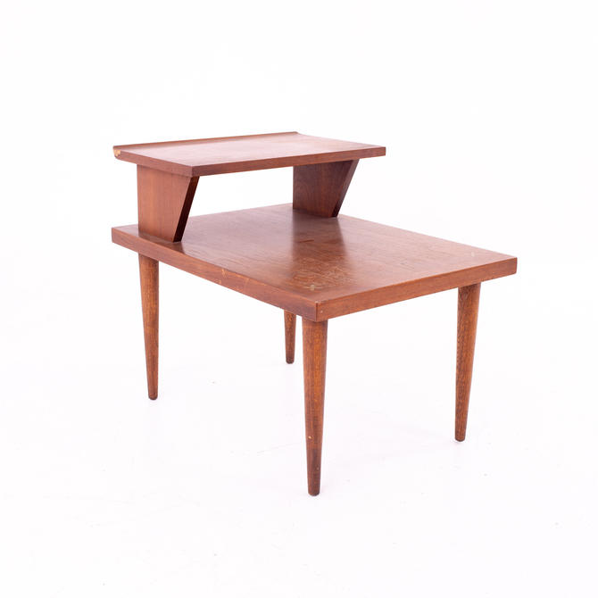 Merton Gershun for American of Martinsville Mid Century 2 Tier Side End Table - mcm by ModernHill
