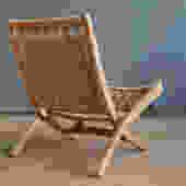 Yugoslavian Wegner Style Scissor Chair