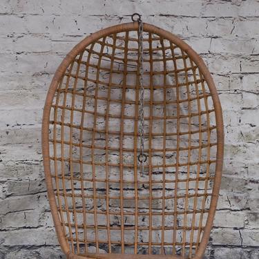 SHIPPING NOT FREE!! Vintage Bamboo Hanging Chair with hook by WorldofWicker