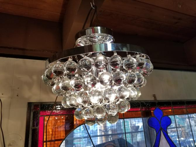 Contemporary Wedding Cake Chandelier with Funky Balls  (4 bulbs)