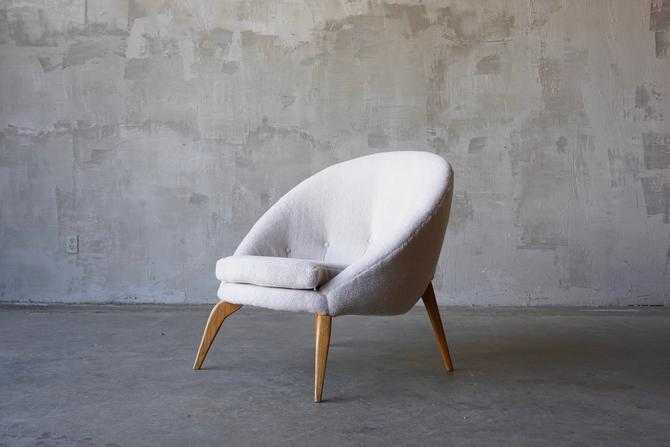 Jean Royere Style Lounge Chair by FandFVintage