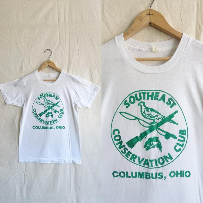 Vintage Paper Thin Ohio Conservation Club T Shirt/ 1970s 80s Southeast Columbus Soft T Shirt/ Small by bottleofbread